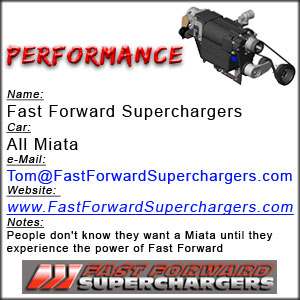 Fast Forward Superchargers for MX-5 Miata