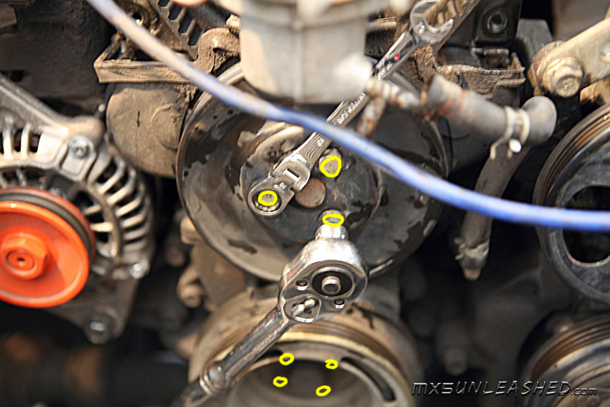 Mx 5 unleashed changing of the timing belt cambelt water pump pullyes miata mx 5 publicscrutiny Gallery