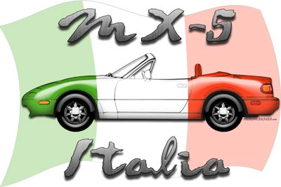 Miata Italia t-shirt, sticker and more