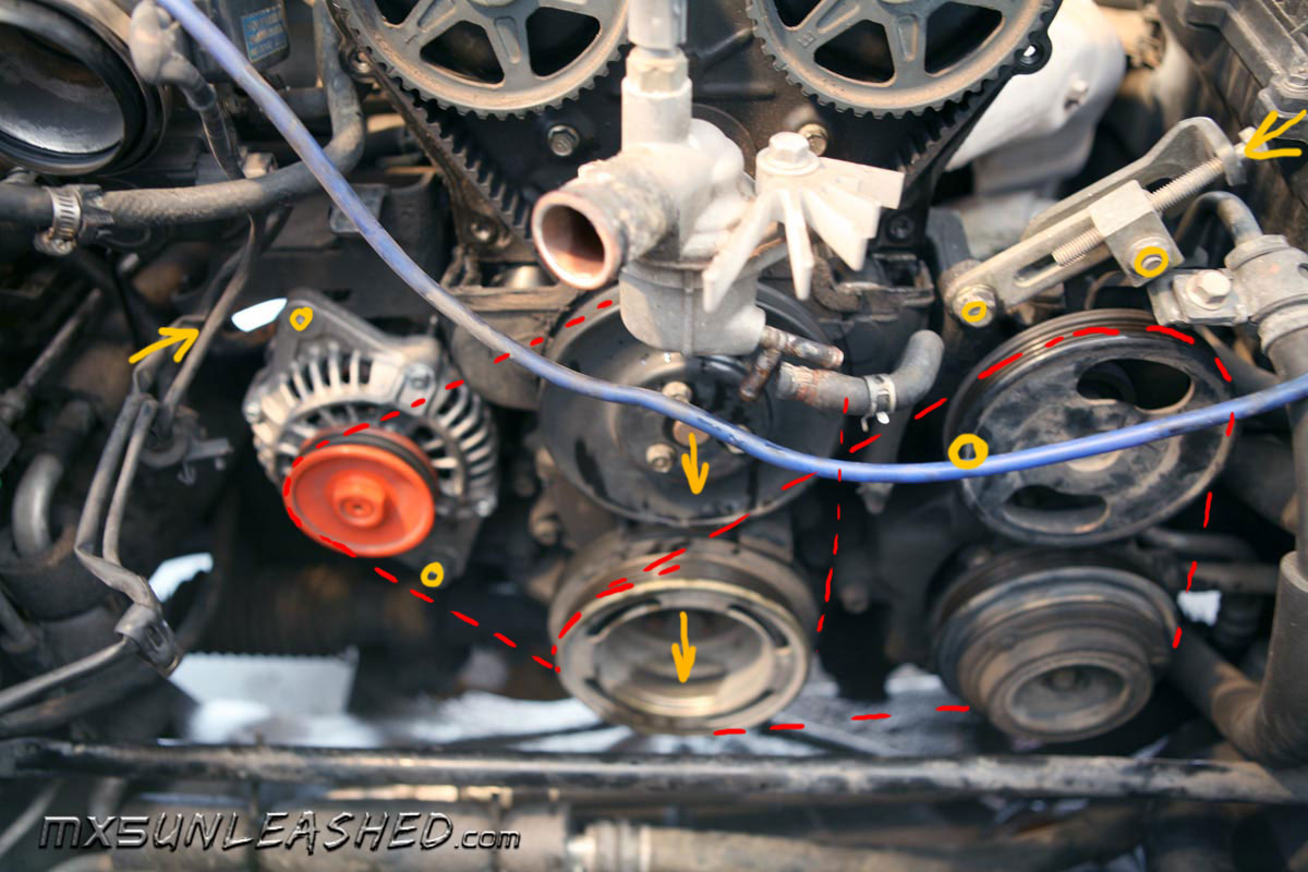MX-5 Unleashed - Changing of the timing belt ( cambelt ), water pump